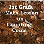 1st grade math lesson on counting coins
