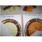 Apple and pumpkin pie fractions