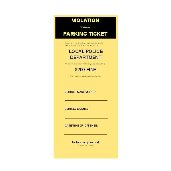 Download & Use Free Microsoft Publisher Parking Ticket Templates