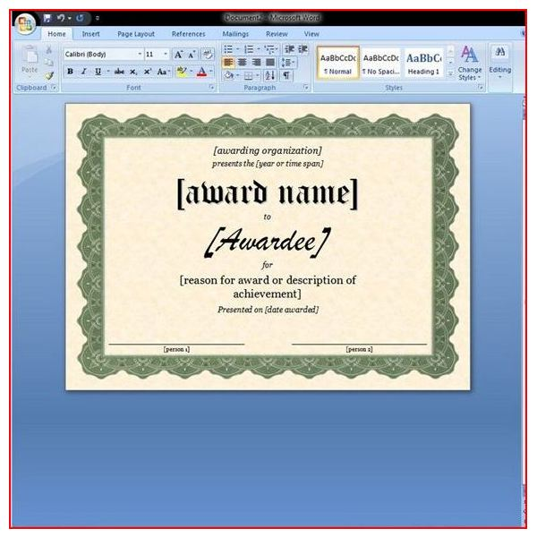 Free Printable Award Certificates10 Great Options for a Wide – Free Award Certificate Templates for Word