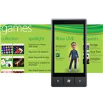 Windows Phone 7 features an Xbox gaming hub