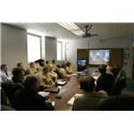 CNATT holds a video teleconference session with Rear Adm. J. Kevin Moran, commander, Naval Personnel Development Command (NPDC) Norfolk, Va