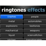 Ringtones Effects BlackBerry App