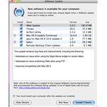 Software Update Window on Mac OS X Snow Leopard