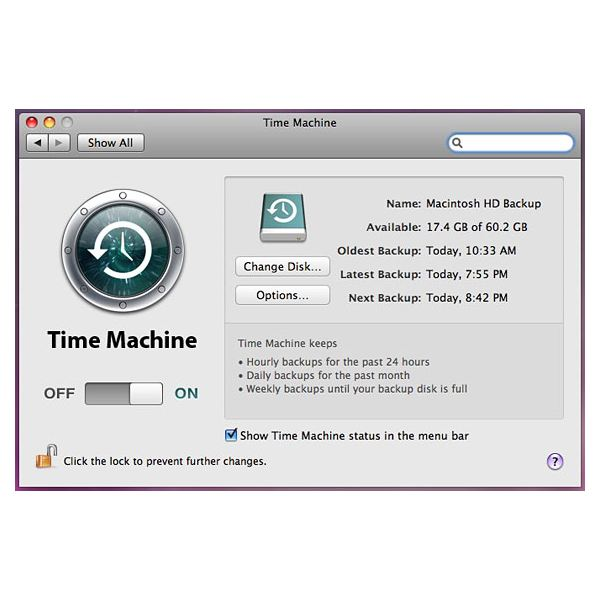 time machine not backing up