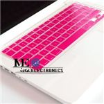 Pink computer keyboard cover for MacBooks