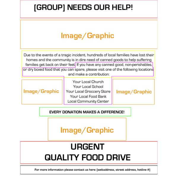 Quality Food Drive Flyer Templates – Donation Flyer Template