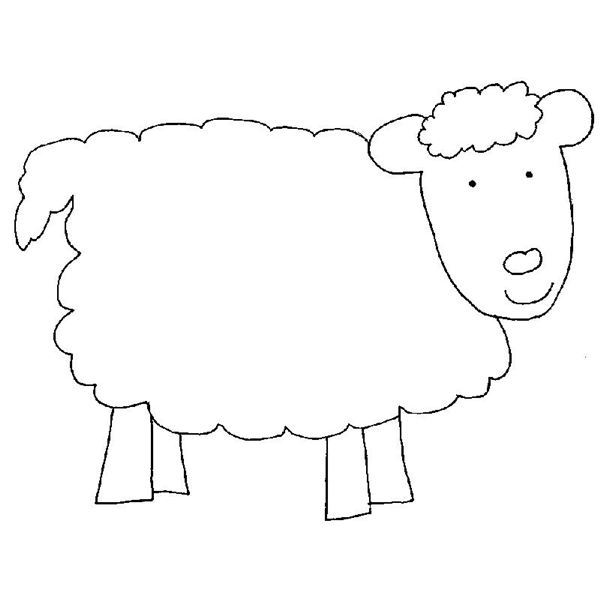 In like a lion out like a lamb march craft for preschool for Cardboard sheep template