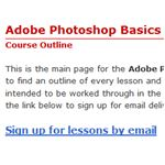 Photoshop Basics Course