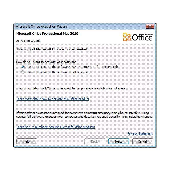 microsoft office activation failed 2010 crack