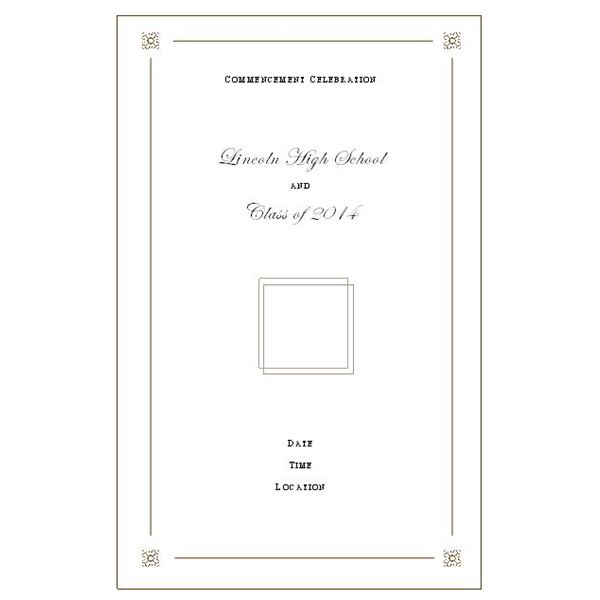 graduation program template word