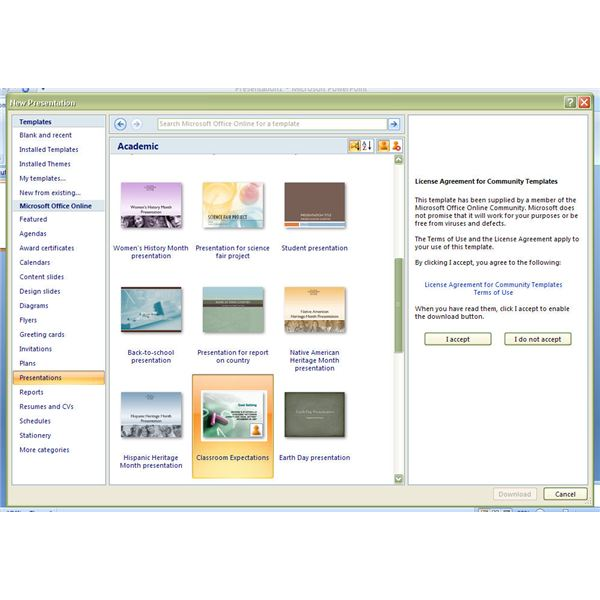 microsoft office 2007 powerpoint themes