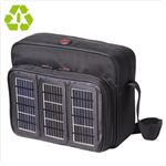A Voltaic laptop bag with solar panels