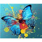 Butterfly and Paint Splatters Abstract Wallpaper