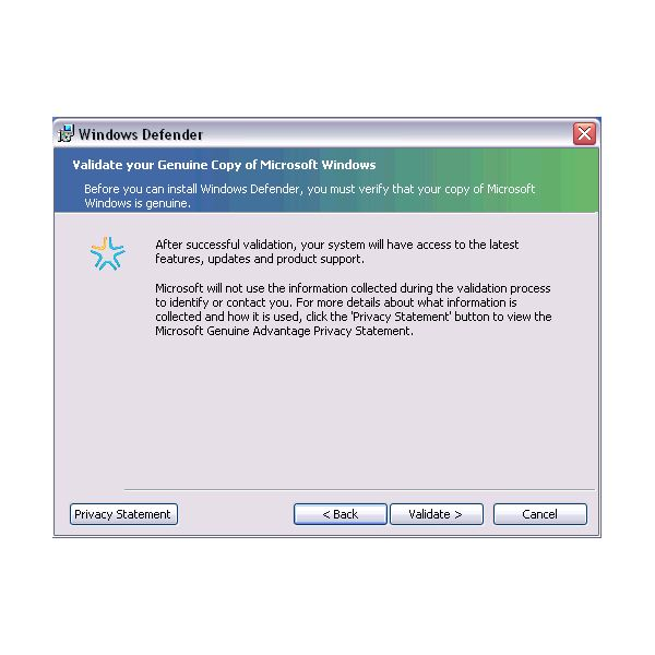 Windows genuine advantage validation tool workaround