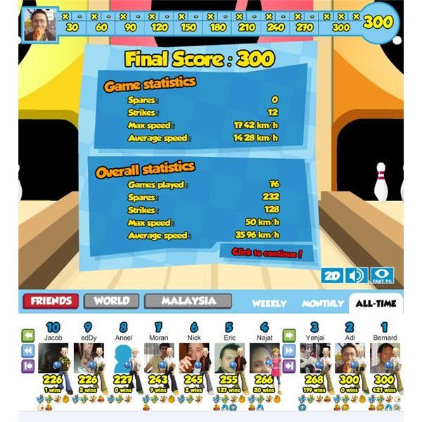 Browser-based Bowling Game