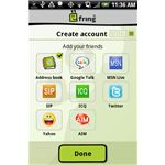 fring create account