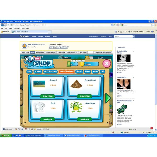 Facebook games fish world new players guide learn about for Fish world on facebook