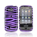Samsung Reality Zebra Hard purple plastic Case