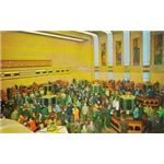 POSTCARD - TORONTO - TORONTO STOCK EXCHANGE - INTERIOR CROWDED FLOOR - 1960s