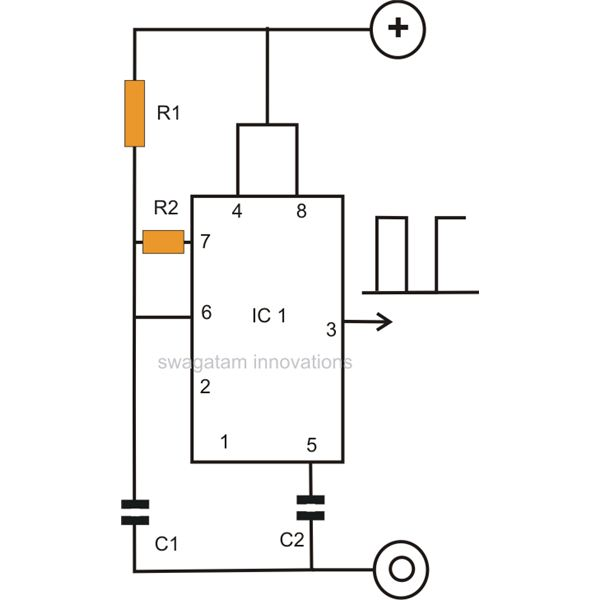 how to make a simple ic 555 pwm circuit