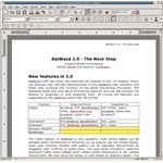 AbiWord open source software for editing articles