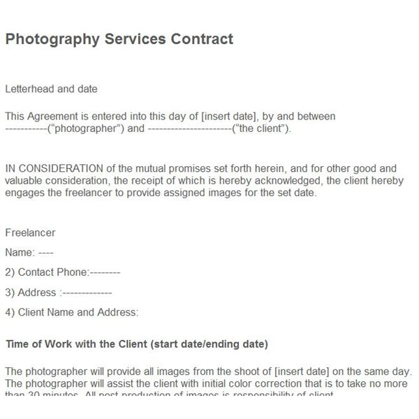 Where to Find Photography Business Forms Free Online – Free Legal Agreement Templates