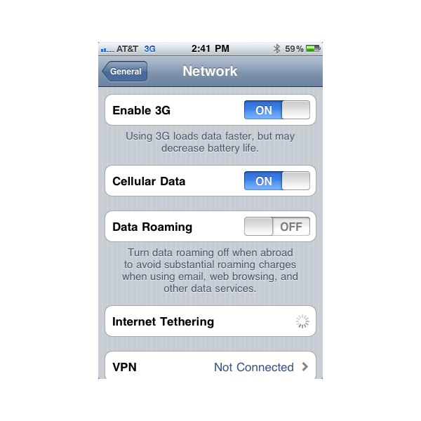 how to turn off router from iphone