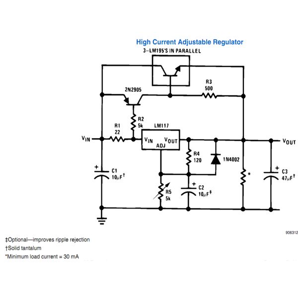 application circuits using lm317 from national