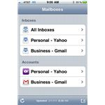 Email Inbox Menu