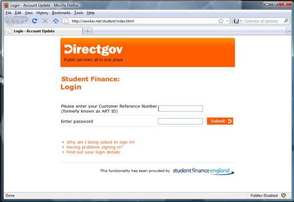 Fake Government Website