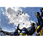 Class of 2007, USAF Academy Graduation Hat Hurray Toss, Thunderbird Fly Over