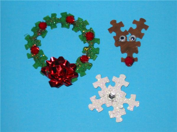 Jigsaw Puzzle Ornaments