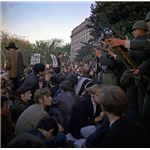 Vietnam War protest at the Pentagon in 1967
