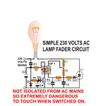 Light Fader AC Circuit Diagram, Image