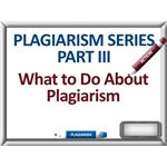 Acting on Plagiarism
