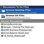 Browse Doc To Go Files