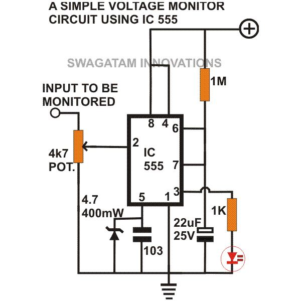 7912262b050b525d13122146b50f376e8b6fc542_large simple 555 circuits explained 555 timer circuit, 555 electrical battery monitor circuit diagram at readyjetset.co