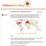 Wolphram Alpha Blog live test world picture