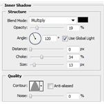 Inner Shadow Settings