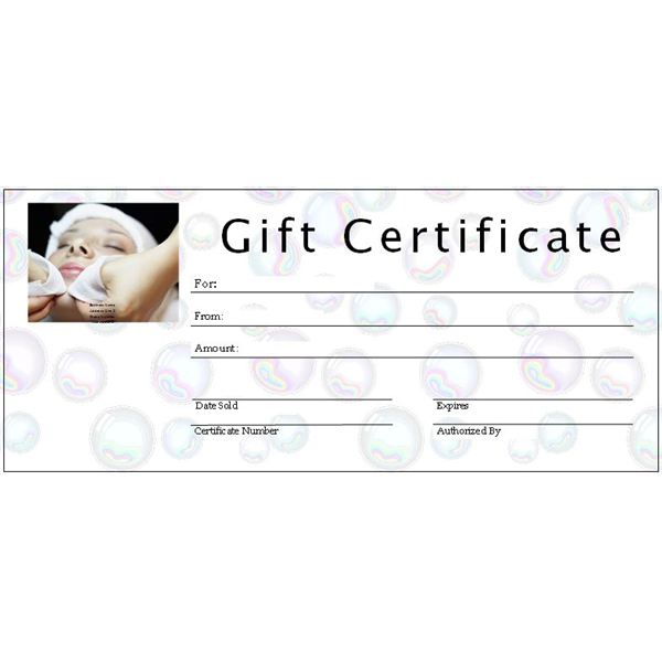 Spa Gift Certificate  Ms Publisher Certificate Templates