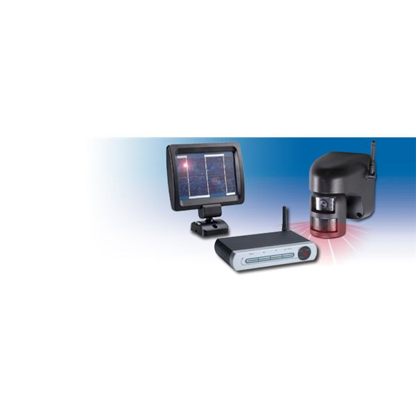 Looking for a solar powered wireless security camera with for Motorized security camera system