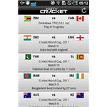 NDTV Cricket 2 Fixtures Table