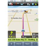 Waze for iPhone Map Screenshot