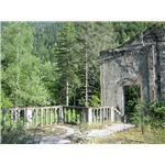 Ruins of Stalins summer-house by the lake Ritsa