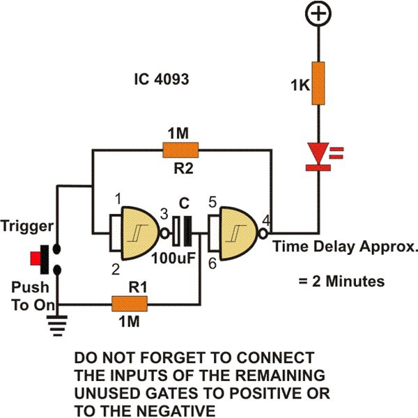 nand gate circuit designs you can build  reset latch  timer