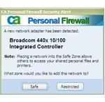 Network warning