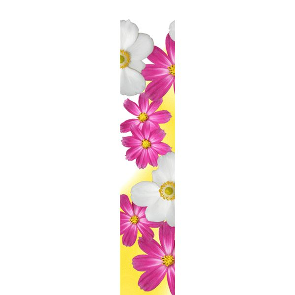 Top Page Border Designs Colorful flower side border
