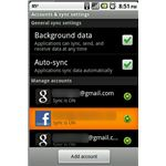facebook account on android sync