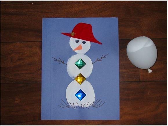 Balloon Print Snowman